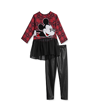 Pippa & Julie x Disney Girls\\\' Mickey Tunic & Leggings Set - Baby-Kids