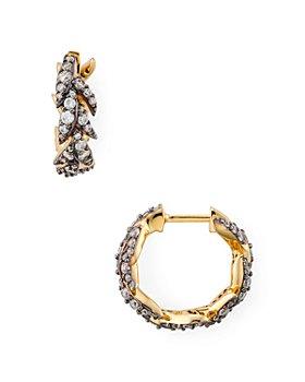 Nadri - Liv Leaf Huggie Hoop Earrings