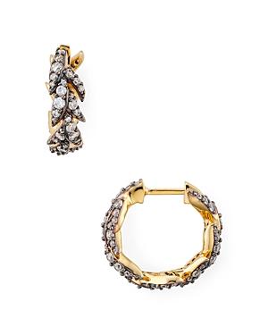 Nadri Liv Leaf Huggie Hoop Earrings-Jewelry & Accessories