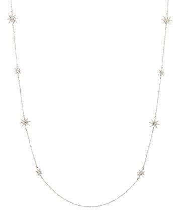 "Ralph Lauren - Pavé Star Station Necklace, 42"""