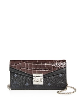 MCM - Patricia Visetos Croc-Embossed Leather Chain Wallet - 100% Exclusive