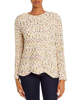 Alison Andrews - Scalloped Confetti Chenille Sweater