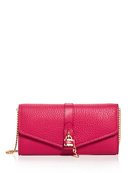 Chloé - Aby Leather Chain Wallet Crossbody