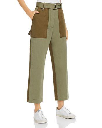 MSGM - Color-Blocked Utility Pants