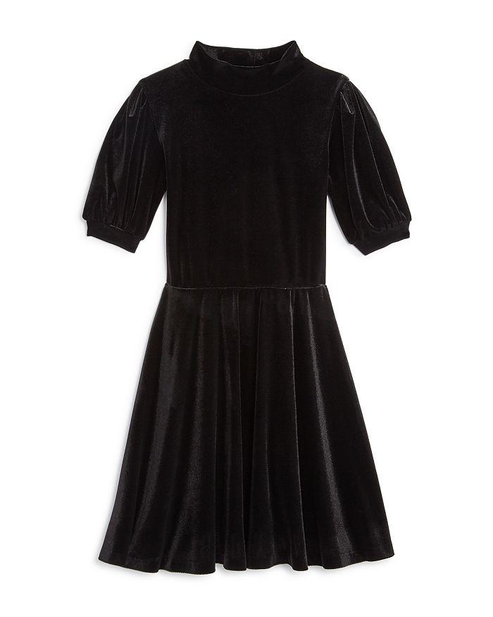 AQUA - Girls' Mock-Neck Velvet Dress, Big Kid - 100% Exclusive
