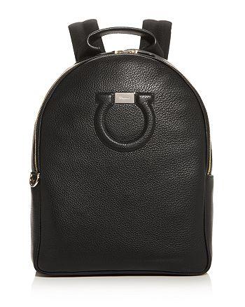 Salvatore Ferragamo - Gancini City Large Leather Backpack