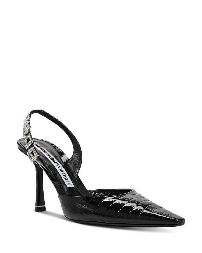 Alexander Wang - Women's Grace Croc-Embossed Slingback Pumps