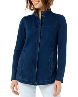 Liverpool Los Angeles - Denim Zip-Front Jacket