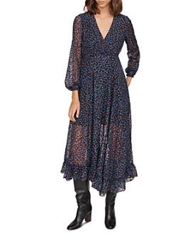 Maje - Revana Floral Burnout Velvet Dress