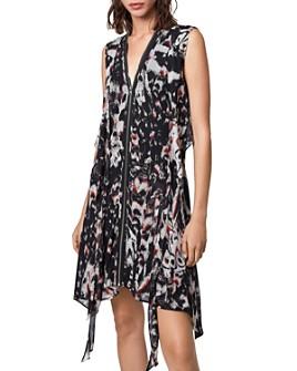 ALLSAINTS - Jayda Wing Zip-Front Dress