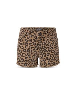 DL1961 - Girls' Lucy Leopard Print Denim Shorts - Big Kid