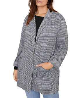 Sanctuary Curve - The Editor Plaid Blazer