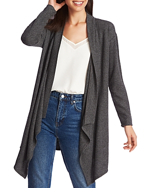 Image of 1.state Brushed Drape-Front Open Cardigan
