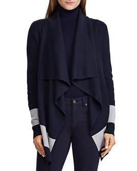 Ralph Lauren - Draped Open-Front Cardigan