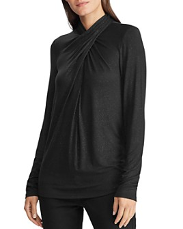 Ralph Lauren - Shimmer Twist-Neck Top