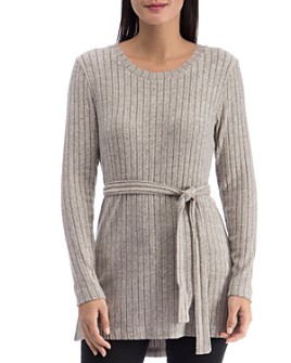 B Collection by Bobeau - Beau Cozy Belted Ribbed Tunic