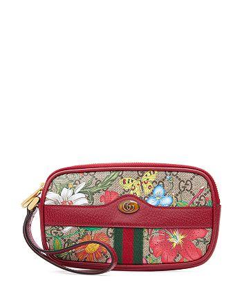 Gucci - Ophidia GG Flora Wrist Wallet