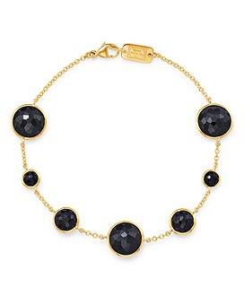 IPPOLITA - 18K Yellow Gold Lollipop Onyx Station Bracelet