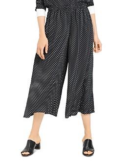 Theory - Polka-Dot-Printed Culottes