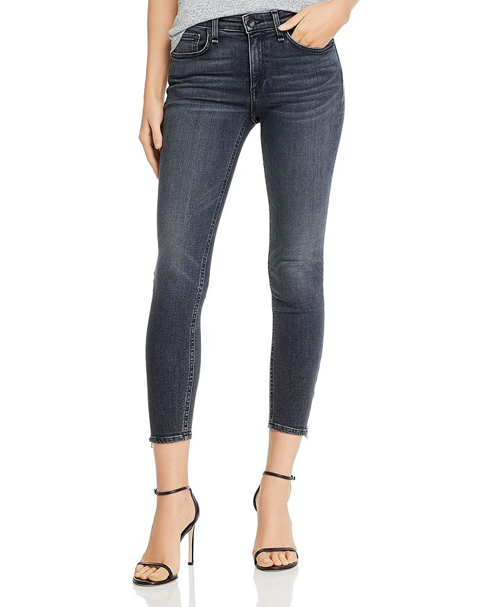 rag & bone - Cate Zip-Hem Ankle Skinny Jeans in Abbey Road