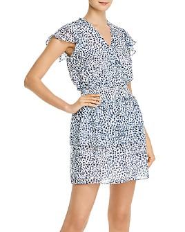 AQUA - Smocked-Waist Cheetah Print Dress - 100% Exclusive