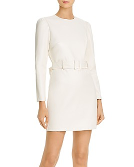 Lucy Paris - Belted Faux Leather Dress - 100% Exclusive