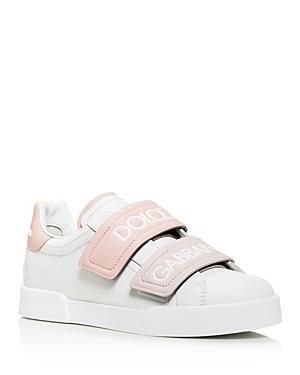 Dolce & Gabbana Sneakers WOMEN'S LEATHER LOW-TOP SNEAKERS