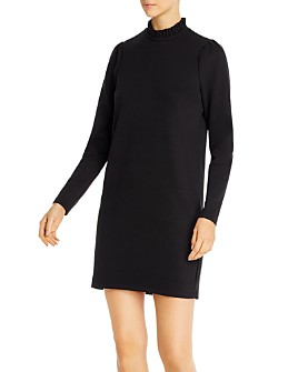 Vero Moda - Forest Long-Sleeve Pleat Detail Shift Dress