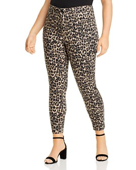 Seven7 Jeans Plus - High Rise Skinny Jeans in Leopard
