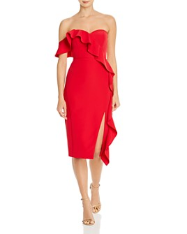 Aidan by Aidan Mattox - One-Shoulder Crepe Dress
