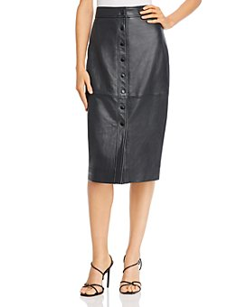 Equipment - Violette Leather Pencil Skirt
