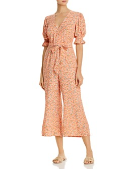 Faithfull the Brand - Anka Floral-Print Puff Sleeve Jumpsuit