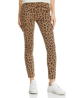 FRAME - Cheetah Print Cargo Skinny Pants