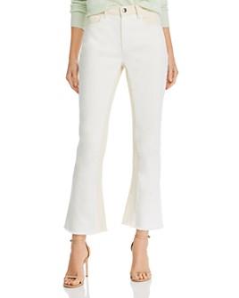 FRAME - Le Crop Mini Boot Color-Block Jeans in Blanc Multi