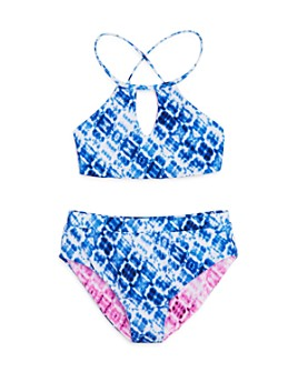 Splendid - Girls' Hidden Shores Reversible Two-Piece Swimsuit, Little Kid, Big Kid - 100% Exclusive