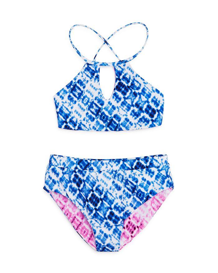 Splendid - Girls' Hidden Shores Reversible Two-Piece Swimsuit, Little Kid, Big Kid - 100% Exclusive