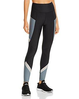 AQUA - High-Rise Color-Block Leggings - 100% Exclusive