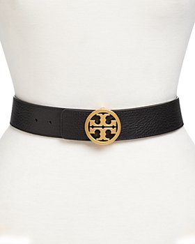 Tory Burch - Women's Reversible Leather Logo Belt