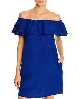 Tommy Bahama - Off-the-Shoulder Dress Swim Cover-Up