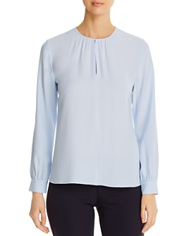 Eileen Fisher - Silk Keyhole Blouse - 100% Exclusive