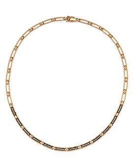 "Kismet By Milka - 14K Rose Gold Champagne Diamond Beaded Choker Necklace, 15""L"
