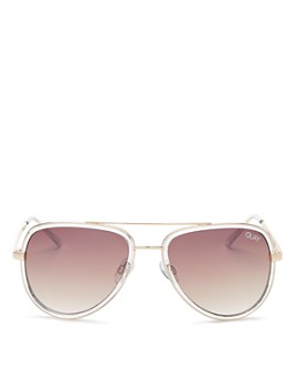 Quay - Women's All In Mini Brow Bar Aviator Sunglasses, 59mm