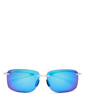 Maui Jim - Unisex Hema Polarized Square Rimless Sunglasses, 62mm