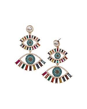 Baublebar Ayn Double Evil Eye Drop Earrings