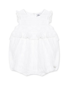 Tartine et Chocolat -  Girls' Ruffled Eyelet Romper - Baby