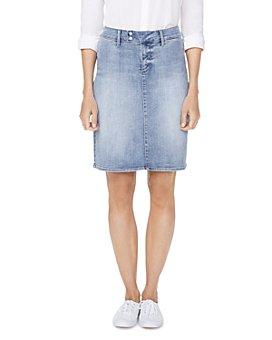 NYDJ - Snap-Waist Denim Skirt