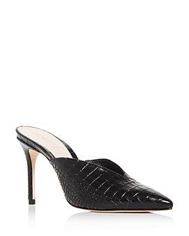 SCHUTZ - Women's Charla Embossed High-Heel Mules