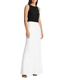 Ralph Lauren - Two-Tone Jersey Crepe Gown