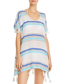 Surf Gypsy - Striped Tunic Swim Cover-Up