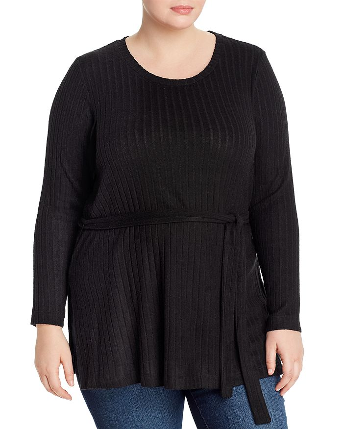 B Collection by Bobeau Curvy - Beau Belted Tunic Top